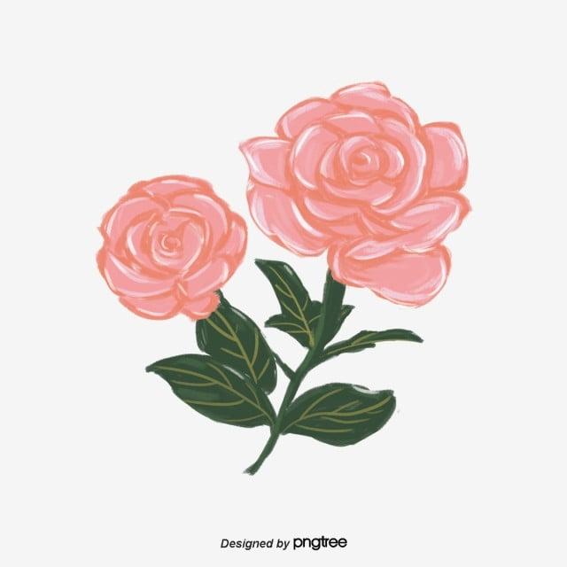 手絵ピンクのバライラスト要素 バレンタインデー 手絵 イラスト画像とpsd