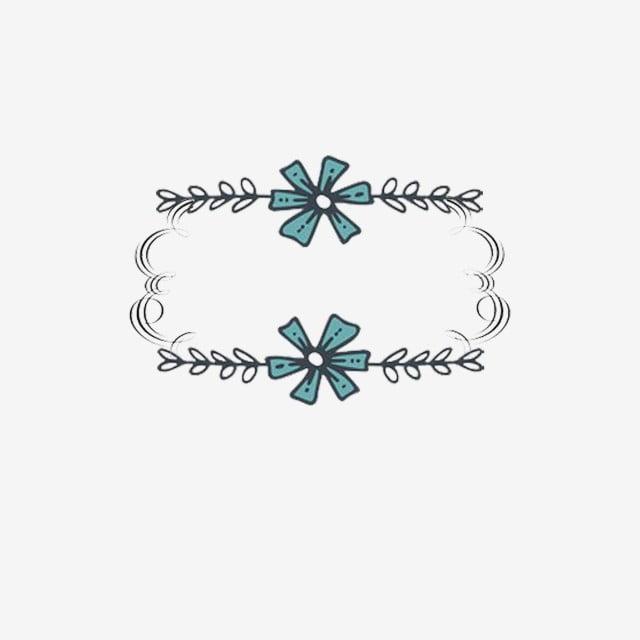 line flowers decoration frame  texture  line border  decorative border png transparent clipart