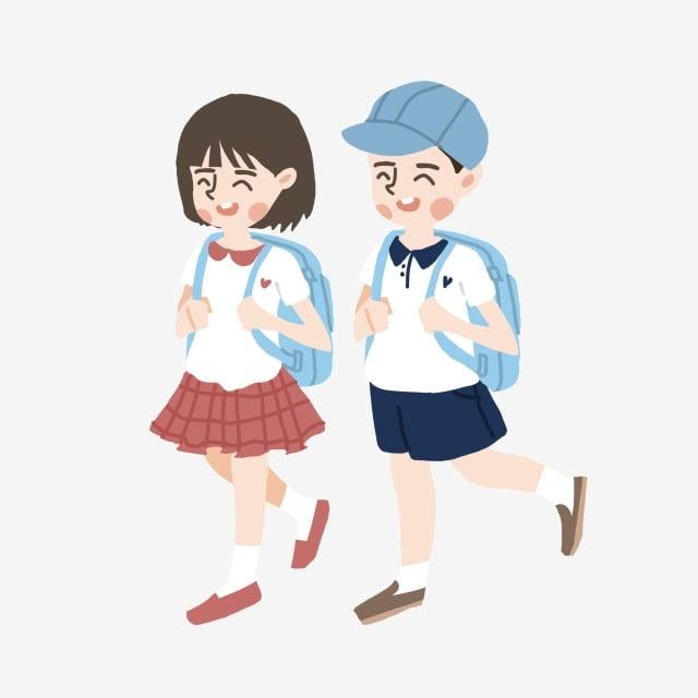 Hình ảnh Phim Hoạt Hình Học Sinh Tiểu Học Bắt đầu đi Học, Ngày Học, Học  Cùng Trường, Cầm Theo Cái Túi miễn phí tải tập tin PNG PSDComment và Vector