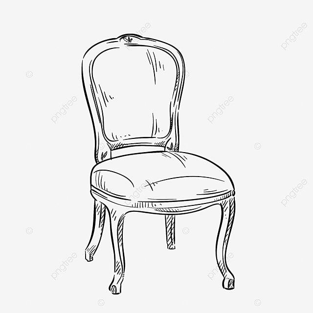 Sketch Furniture Stool Simple Sketch Line Drawing Sofa Aesthetic