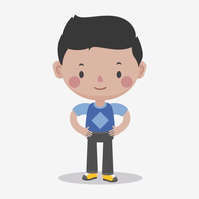 Sports Boy Cute Boys Q Version Of Little Cartoon Hand Drawn Characters