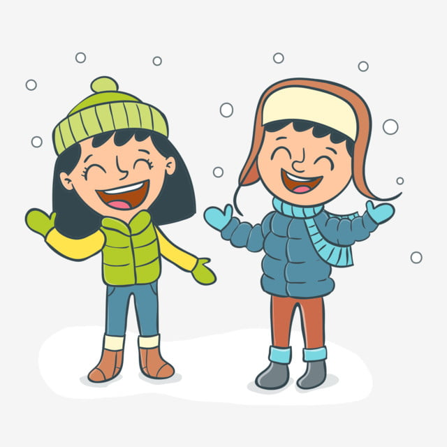 Image result for clipart children playing in snow