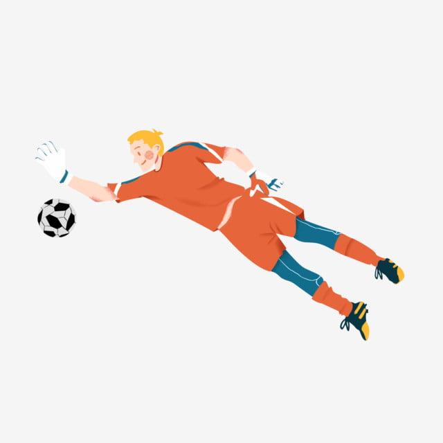 Weltcup Fussball Athlet Torwart Hand Gezeichnet Torwart Wm