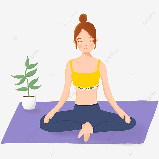 Yoga Yoga Mat Yoga Clothing Relax Yoga Day Comfortable Closed Eyes Meditation Png Transparent Clipart Image And Psd File For Free Download