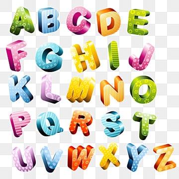3d letters, English alphabets, 3d Alphanets, 3d Letters, 3d Letters Vector PNG