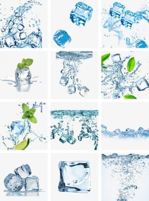 blue floating water ice cubes mint green water ice cubes water and water ice cubes water ice cubes falling into the water, Water Ice Cube, Decorative Pattern, Frozen Water Block PNG and PSD