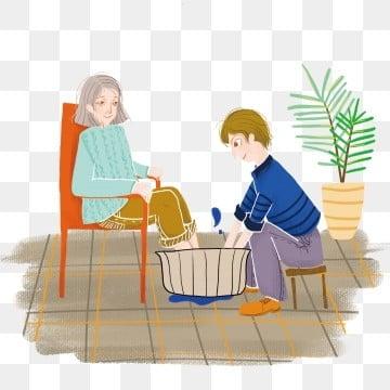 高齢者の世話 老人を尊重し、老人を愛する 高齢者への敬意 長老を尊重する, 家族の夕食, 長老を尊重する, 高齢者を尊重する PNGとPSD