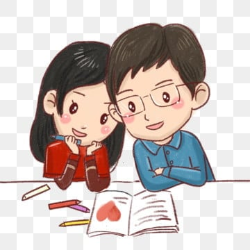 pngtree cartoon couple hand drawn couple diary drawing png image 335789