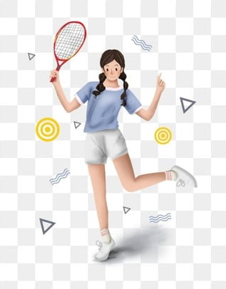 Cartoon Clipart Character Clipart Tennis Clipart Png Transparent Background Cartoon Character Holding A Tennis Racket Images Vector Psd Files