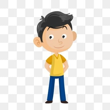 Animated boy. Clipart images png format