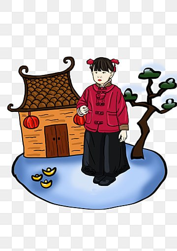 e6c202bd1 cute little girl in traditional costume in winter winter traditional clothing  cartoon, Lovely, Winter