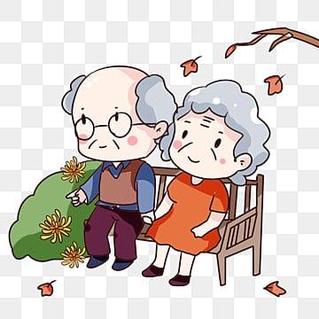 手描き漫画 ダブルナインスフェスティバル 家に帰る お年寄りを訪問, お年寄りを訪問, 両親を敬う, 手描き漫画チョンヤン祭りの家老人ホーム PNGとPSD