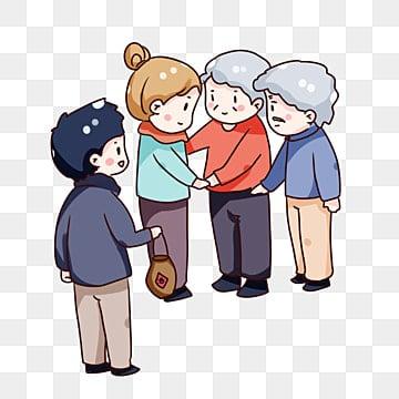 手描き漫画 ダブルナインスフェスティバル 両親を訪問するために家に帰る 両親を敬う, 装飾模様, 両親に会うために手描き漫画チョンヤン祭りの家, 祭り PNGとPSD