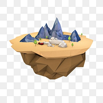 lowpoly mountain three dimensional mountain low side mountain c4d mountain, Polygonal Mountain, Polygon Free Buckle Mountain, Mountain PNG and PSD