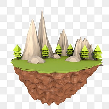 lowpoly style night scene editable source file, 3d, Three-dimensional, Free Buckle PNG and PSD