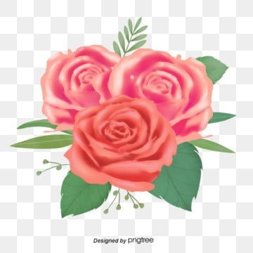 Pink English Hand-painted Creative Rose Elements, Valentines Day, Hand Drawn, Romantic PNG and PSD