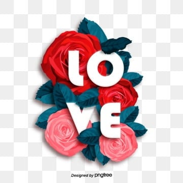 Red Pink Rose Three-dimensional Love Creative Visual Poster Painting, Love, Sale, Promotion PNG and PSD