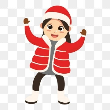 winter winter characters winter outdoor characters excited little girl little girl character, Winter Outdoor Little Girl, Cute Little Girl, Winter PNG and PSD