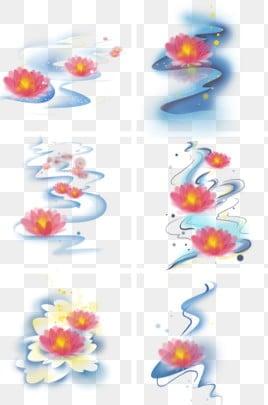 фестиваль света воды воды в озере чжунъюань lotus, речная вода, река легких, молитва PNG и PSD