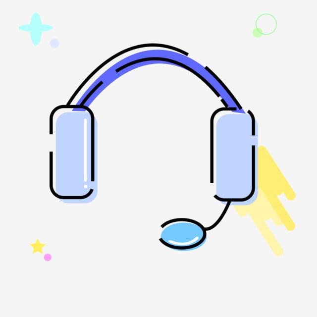 Auriculares Azules Auriculares Dibujados A Mano Auriculares De