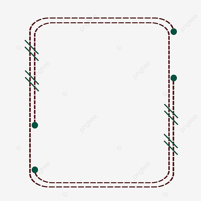 Brown Wireframe Simple Wireframe Geometric Border Simple