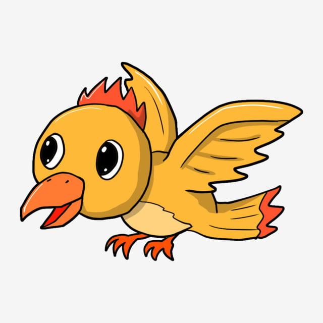 Pájaro Lindo Volando Alas Pájaros De Dibujos Animados Pájaro De