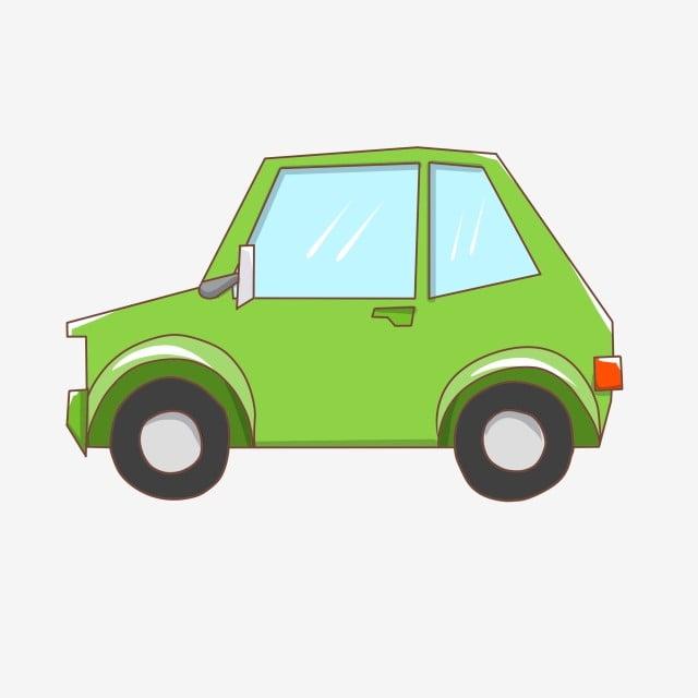 漫画グリーン車イラスト グリーンカー 漫画セダン タイヤ 車 自動車