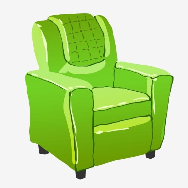 Green Sofa Hand Painted Sofa Cartoon Sofa Sofa Illustration