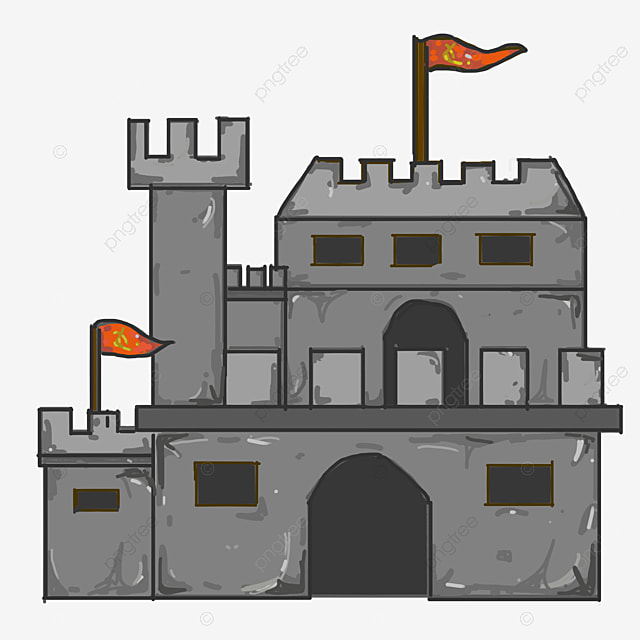 6ba7f6ecfd411 Grey Castle Red Red Flag Yellow Five-pointed Star Red Flag