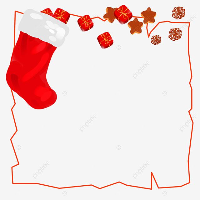 Bordure De Noël Dessinée à La Main Joyeux Noël Joyeux Noel