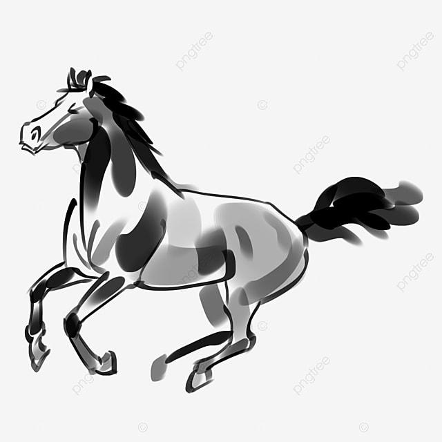 Dibujado A Mano Corriendo Caballo Ilustración De Caballo Corriendo