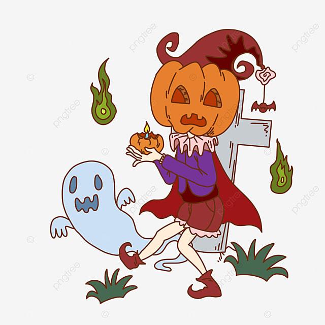 Heureux Halloween Cimetière Fantôme Fantôme Chauve Souris