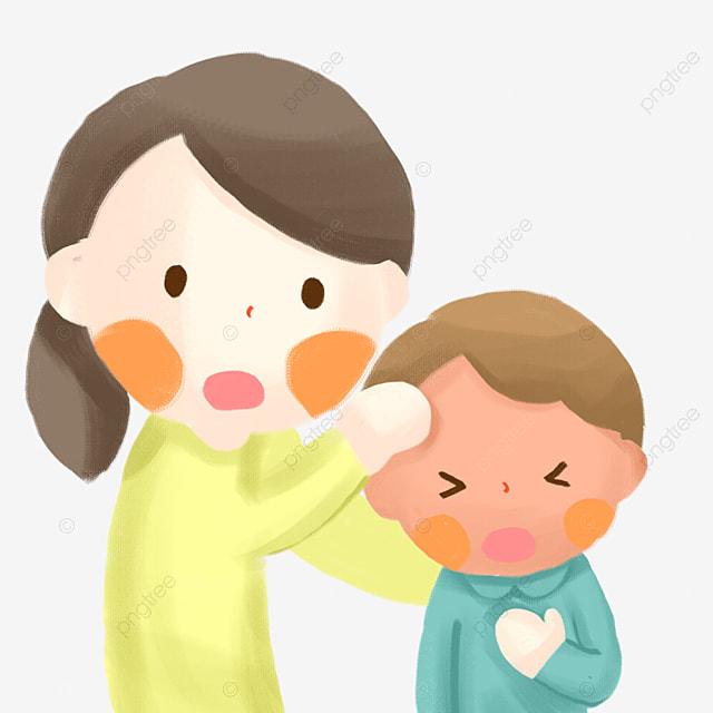 571d90f5c أنفلونزا حمى سوء الأم الكرتون الأم قلقة شعور PNG وملف PSD للتحميل مجانا
