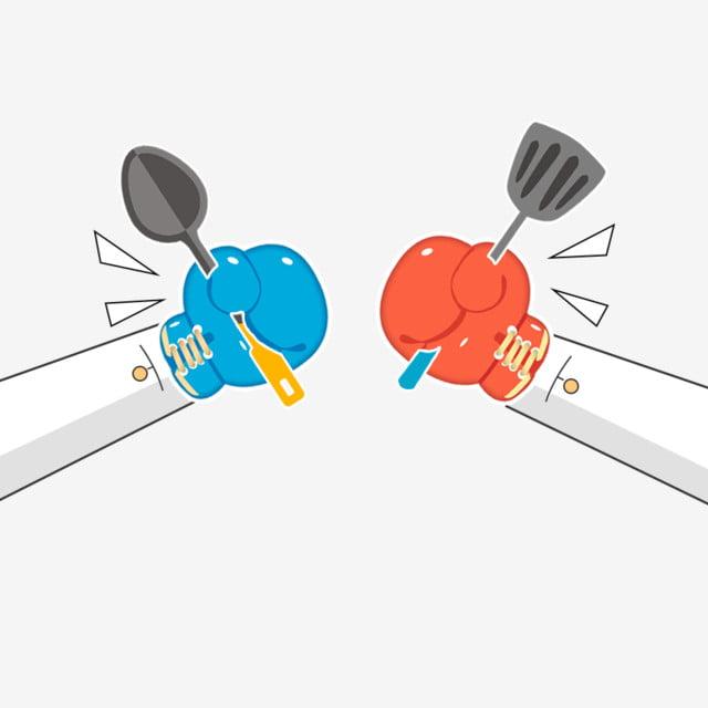 Kitchen Hand Painted Cartoon Boxing, Pk, Platform, Game