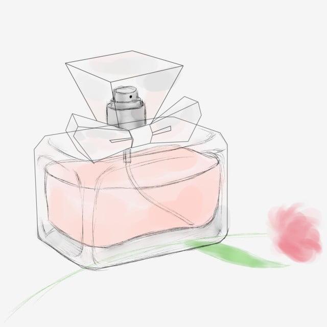 Parfum Transparent Blanc Flacon Rose Arc Illustration De f7Y6yvbg