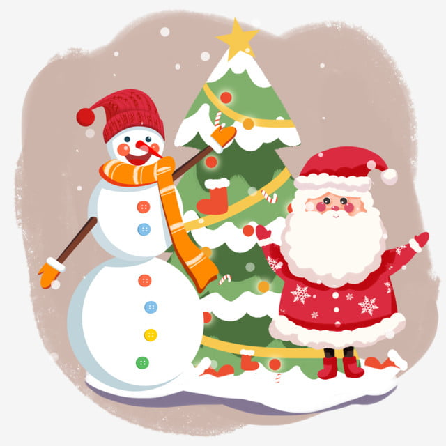 Tall Christmas Tree Clipart.Red Christmas Hat Christmas Old Man Tall Christmas Tree