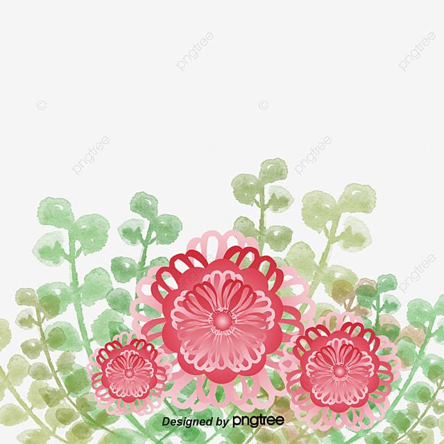 Rouge Fleur Grappe De Fleurs Fond Transparent, Fleur