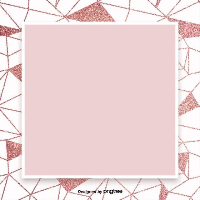 Rose Pink Gold Geometric Lines Simple High End Border