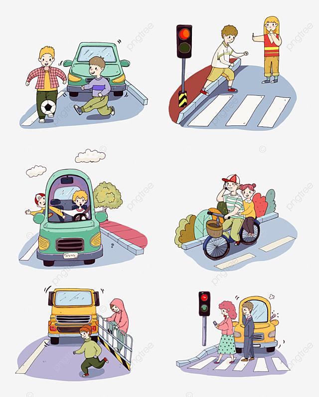 سلامة عبور الطريق تلعب السلامة المرورية لكرة القدم تحذير اشارة المرور سلامة السفر Png وملف Psd للتحميل مجانا