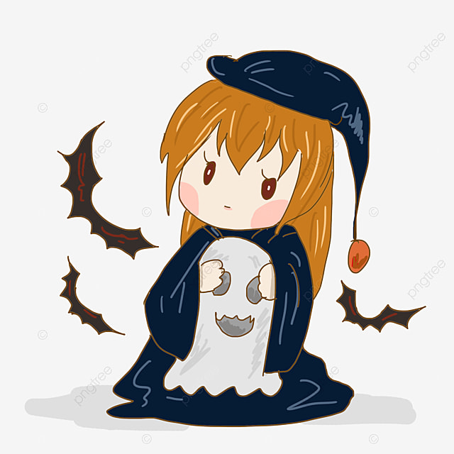 Western Traditional Festival Bat Ghost Ask For Candy At Night Give The