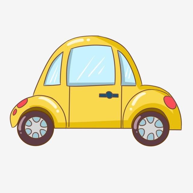 Gambar Kereta Kartun Png Gambar Kereta Kuning Kereta Cantik Kereta Yang Ditarik Tangan