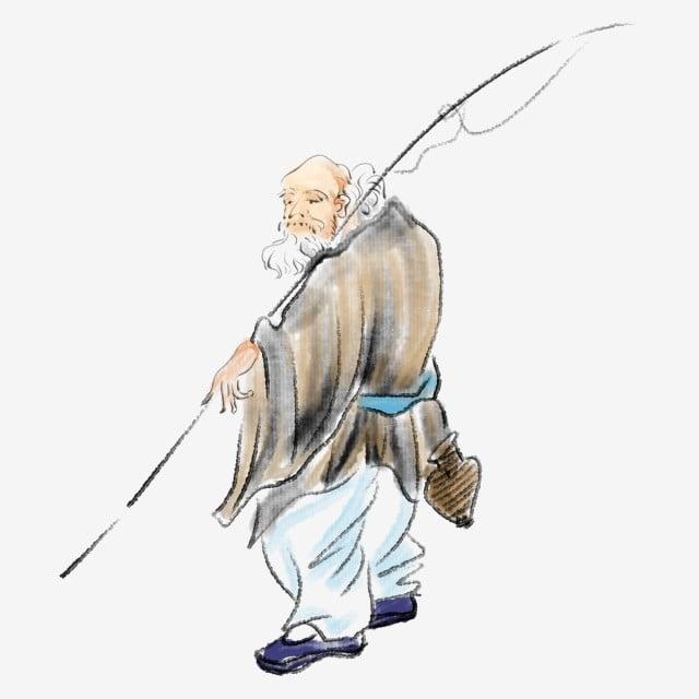 黄色い服 手描きの漁師釣りイラスト 黒の釣り竿 白髪 黄色い服 古代の風の漁師の釣り 白髪 画像とpsd素材ファイルの無料ダウンロード Pngtree