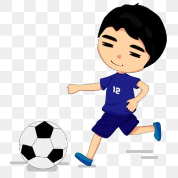 Sunny Cartoons Play Football Kid Banner, Sunshine, Cartoon ...
