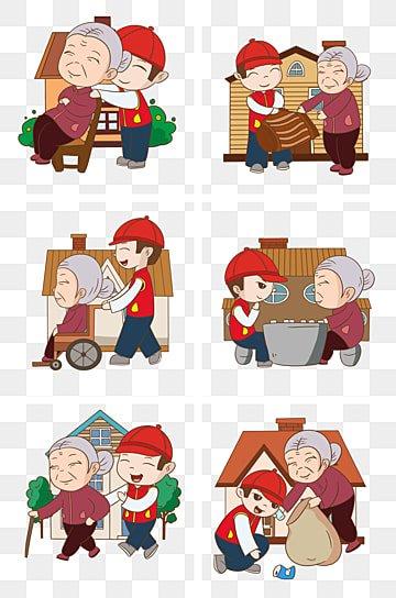 コミュニティサービス 高齢者への敬意 親切な祖母 コミュニティサービスの図, 親切な祖母, 高齢者への敬意, コミュニティサービスの図 PNGとPSD