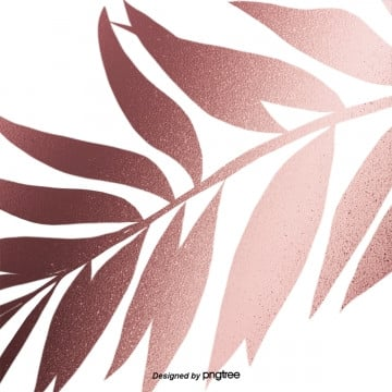 metallic texture decorative element background of rose gold leaves, Geometry, Leaf, Luxurious PNG and PSD