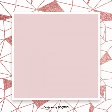 pink gold geometric lines simple high end border background, Geometry, Luxurious, Shading PNG and PSD