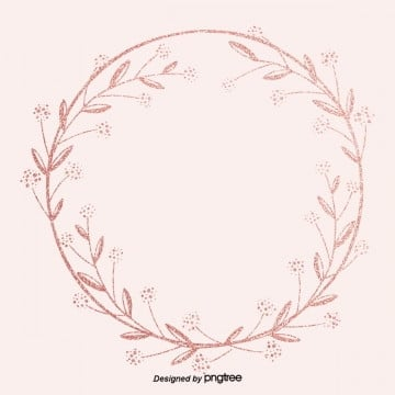 pink gold wreath border delicate decorative border background, Luxurious, Shading,  PNG and PSD