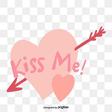 valentines day love peach heart arrow element kiss me hand painted font stickers Fonts