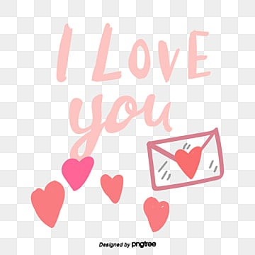 valentines day love peach heart element i love u hand painted font stickers Fonts
