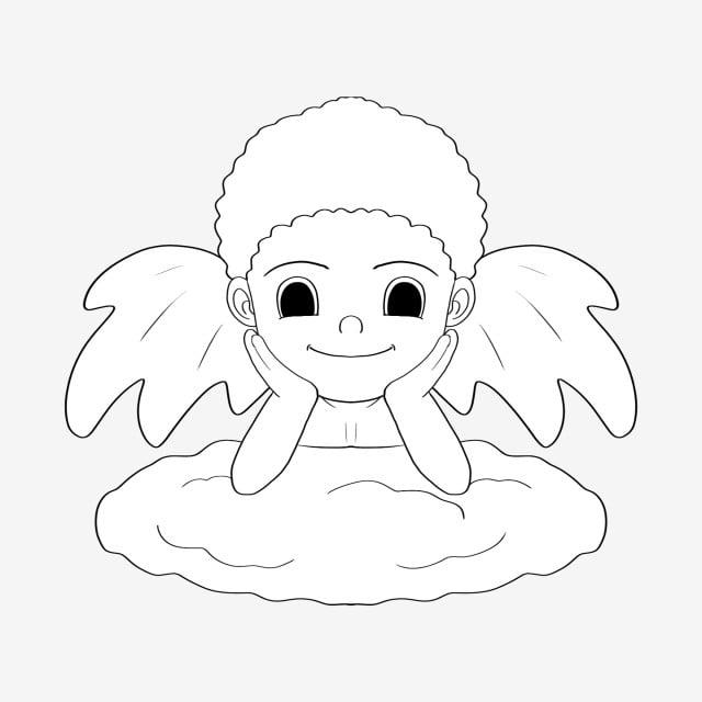 Deslumbrante Dibujo De Líneas Cupido Dibujo De Líneas